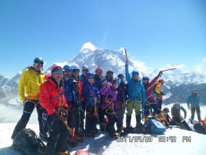 Group Photo Lobuche Peak Climbing